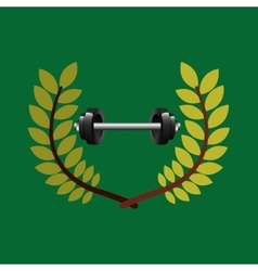 Barbell weight olympic games emblem vector