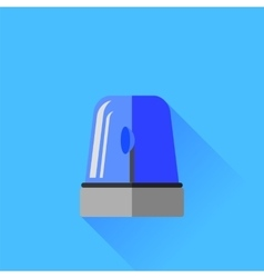 Blue Siren Icon vector image vector image