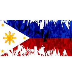 Flag of the philippines vector