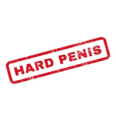 Hard Penis Text Rubber Stamp vector image vector image
