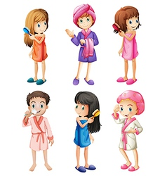 Kids grooming vector image vector image