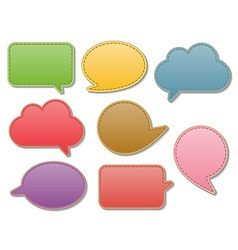 leather speech bubbles vector image vector image
