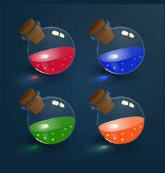 Magic elixirs set vector