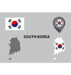 Map of south korea and symbol vector