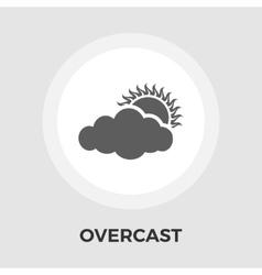 Overcast flat icon vector