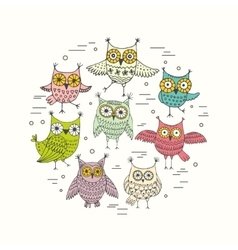 Owl graphic abstract vector