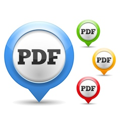 PDF File Icon vector image vector image