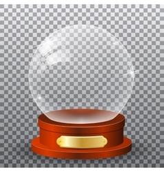 Realisitc 3d snow globe vector image