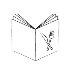 Recipe book isolated icon vector