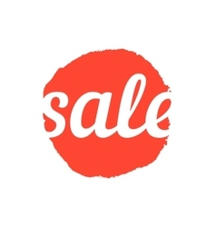 sale text on red ink stain vector image