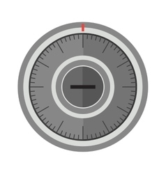 Security metal safe with empty space inside vector image vector image