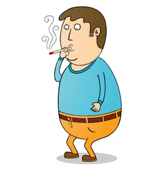 smoking guy vector image vector image
