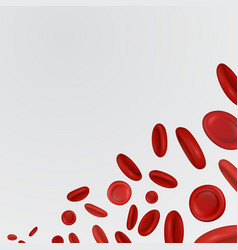 Streaming blood cells vector