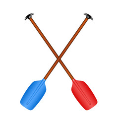 two crossed paddles i vector image vector image