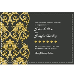 wedding Invitation Templates vector image vector image