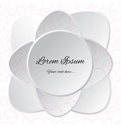 White flower background for design vector