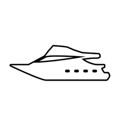 yacht transportation delivery travel icon vector image