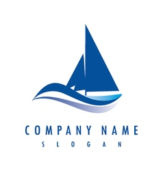 yatch logo vector image