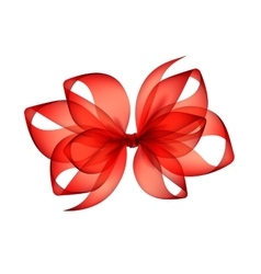 Red scarlet transparent bow top view isolated vector