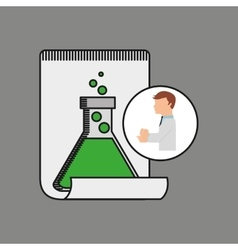 Scientist worker research report tube lab vector