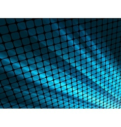 Blue rays light 3D mosaic EPS 8 vector image