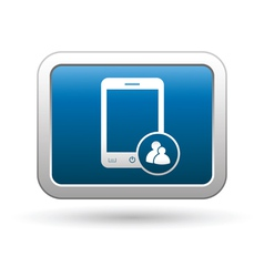 Phone group icon blue vector