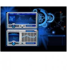 Mp3 media music player  vector