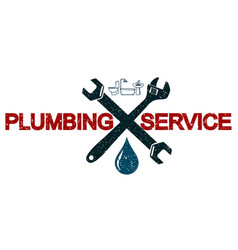 Plumbing services business symbol vector