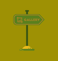 Flat icon on background sign gallery vector