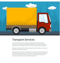 Shipping and freight of goods flyer design vector