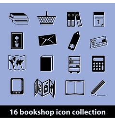 Bookshop icons vector