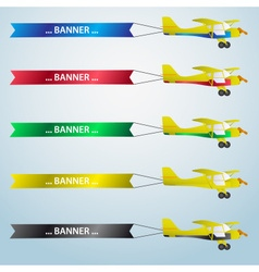 Various colors small airplane with banner eps10 vector