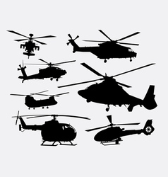 Helicopter transportation silhouette vector