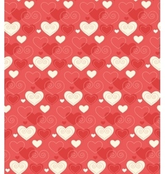 Seamless festive love abstract pattern with hearts vector