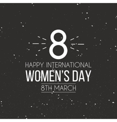 Happy women day vector