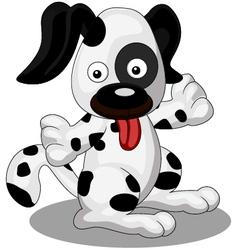 A cute and chubby dog vector