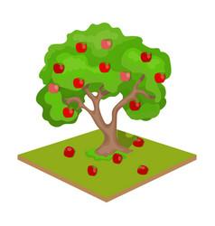 apple single icon in cartoon style apple vector image vector image