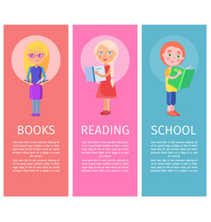 Articles about children books with vector