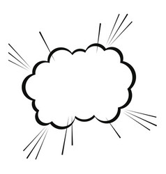 Bubble cloud comic speech chat vector