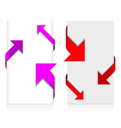 corner arrow set vector image vector image