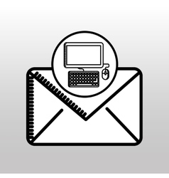 Email computer concept digital online icon vector