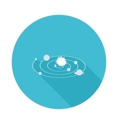 Flat icon solar system vector