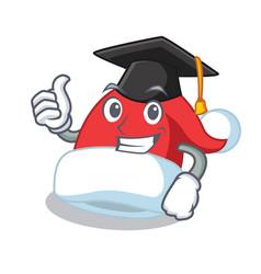 graduation christmas hat character cartoon vector image