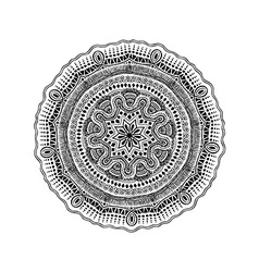 Graphic isolated circle mandala design vector