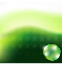 Green Background Glass Sphere vector image