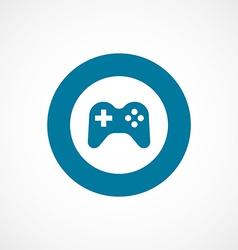 Joystick bold blue border circle icon vector