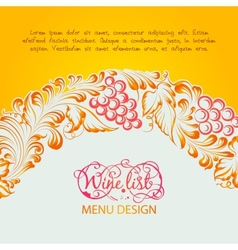 Menu design wine list vector image vector image