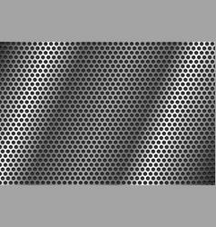 metal perforated background round shaped holes vector image
