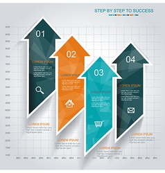 Modern design template infographic from arrows vector