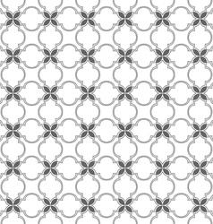 Monochrome seamless pattern arabian style vector image vector image